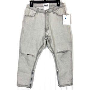 One Teaspoon Ice Grey kingpins slouch jeans 6678